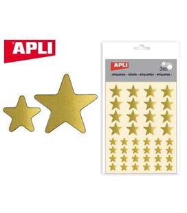 Gomet bolsa etiquetas estrella oro 3h apli 11805