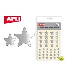 Gomet bolsa etiquetas estrella plata 3h apli 11806