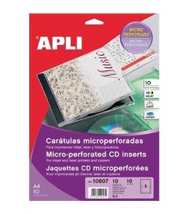 Caratula de cd imprimible a4 microperfoliorado 10h apli 10607