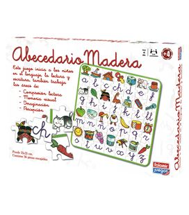 Juego educativo puzzle abecedario madera falomir 11567