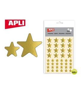 Gomet bolsa etiquetas estrella oro 3h apli 723
