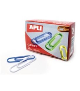 Clips 32mm color surtido nº2 apli 11723 - AP11723