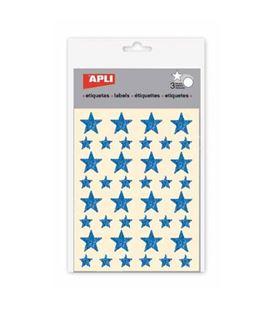 Gomet bolsa etiquetas estrella azul 3h apli 12057