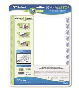 Foliorro libro transparente ajustable 28x5,5 5u. sadipal 02010