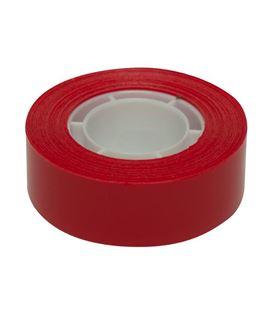 Cinta adhesiva 19mmx33m rojo apli 12272