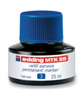 Tinta permanente recarg azul 25ml edding mtk25-03