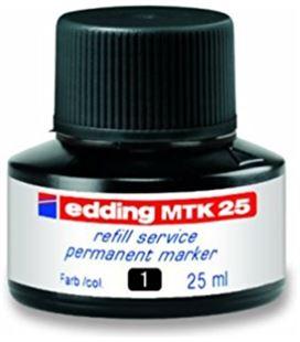 Tinta permanente recargable negro 25ml edding mtk25-01