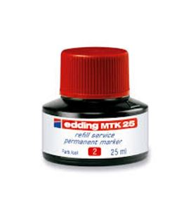 Tinta permanente recarg rojo 25ml edding mtk25-02