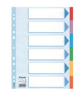 Separadores carton a4 6 posiciones indice color esselte 100192 - 100192