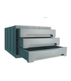 Modulo organizador 3 cajones opaco azul archivotec 6003m az - 150019