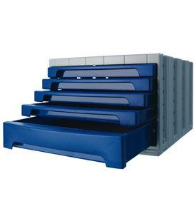 Modulo organizador 5 cajones opaco azul archivotec 6014mp - 6014AZ