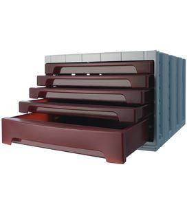 Modulo organizador 5 cajones opaco burdeos archivotec 6014mp - 6014BU