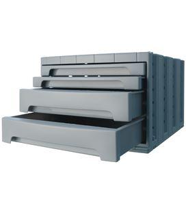 Modulo organizador 4 cajones opaco gris archivotec 6022mp - 6022GS
