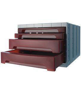 Modulo organizador 4 cajones opaco burdeo archivotec 6022mp - 6022BU