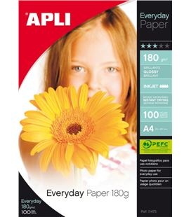 Papel a4 180g 100h foliotografico everyday apli 11475 - 11475