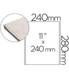 Papel continuo 240x11 blanco 1h 2500 hojas fabrisa 1241012 - 15070