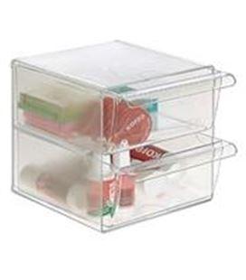 Organizador sobremesa 2 cajones grandes cristal archivo 200 6702tp - AR6702CSTP