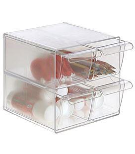 Organizador sobremesa 4 cajones pequeños cristal archivo 2000 6704tp - 150345