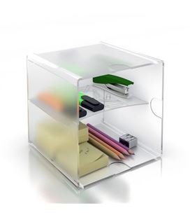 Organizador sobremesa 2huecos horinzo/verticl cristal archivo 2000 6705tp - 150347