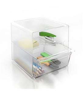 Organizador sobremesa 1cajon grande cristal archivo 2000 6707tp - 150351