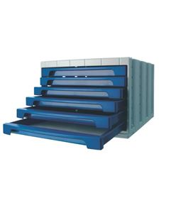 Modulo 6 cajones opaco azul archivo 2000 6006p - 150023