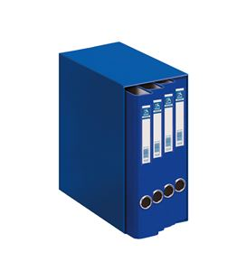 Modulo 4 carpetas 2 anillas folio 25mm azul oficolor dohe 09451