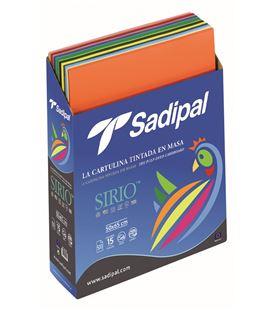 Cartulina 50x65 exp.500h surtido sirio sadipal 05950