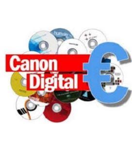Ley de la propiedad intelectual tarrina 50und dvd+r/dvd-r - CANON-DIGITAL