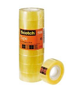 Cinta transparente 19mmx33m 8u scotch 508/1933 919947
