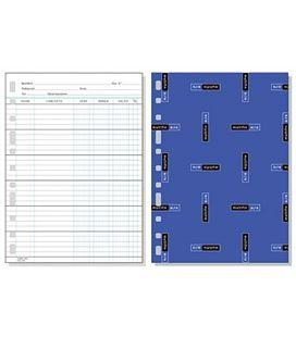 Recambio folio multitaladro 50 hojas 90grs cuentas corrientes multifin 3005 - 119181