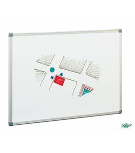 Pizarra blanca estratificada doble cara 75x100cm marco aluminio faibo pab-3