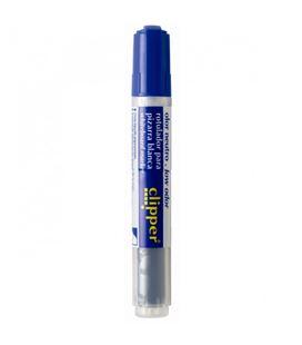 Rotulador pizarra blanca grueso liquid azul clipper 097959