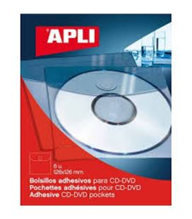 Bolsillo disk autoadhesiva 10,5x10cm 10uds/caja apli 02578