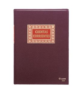 Libro contable folio 100h cuentas corrientes dohe 09908 - 09908