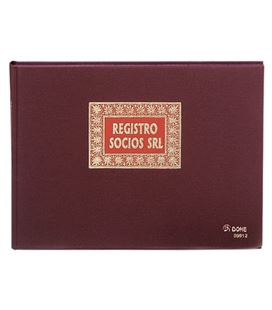 Libro contable folio 100h apaisado regis. socios srl dohe 09912 - 09912