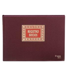 Libro contable folio apaisado registro socios 100h dohe 09914 - 09914