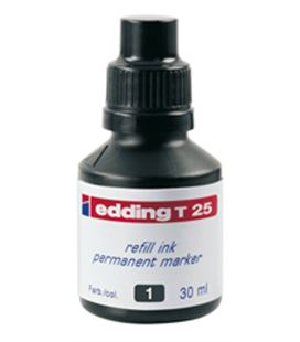 Tinta permanente 30ml recargable negro nº1 edding t-25