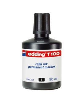 Tinta permanente recarg 100ml negro edding t100
