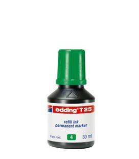 Tinta permanente 30ml recargable verde nº4 edding t-25