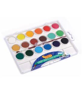 Acuarela + pincel + paleta c.18 colores jovi 800/18 0536 - 80018