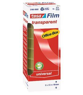 Cinta adhesiva transparen 19mmx33m c.8 tesa film 57405-00002