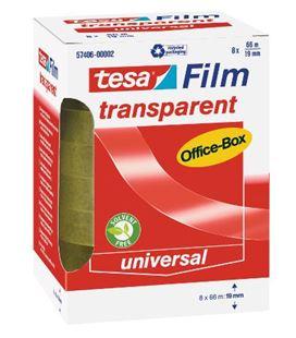 Cinta adhesiva transparente c.8 19x66 tesa 57406-00002