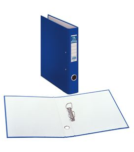 Carpeta 2 anillas folio 40mm carton folio. ofi. azul dohe 09428