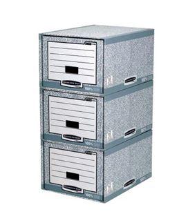 Cajon modular stax gr/bl 435x550x30mm fellowes 01820