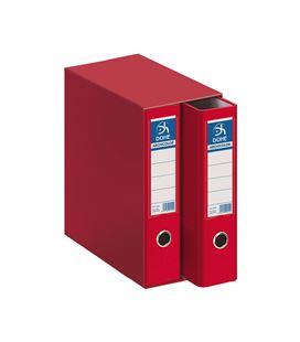 Modulo 2 archivador palanca folio 70mm rojo archico. dohe 90131