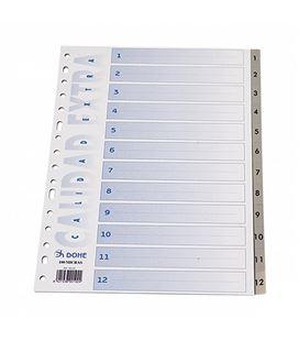 Separadores a4 indice 1-12 gris pp dohe 90197 - 06669