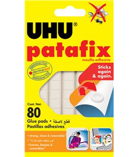 Masilla adhesiva patafix 80uds. uhu 39125 - 32666