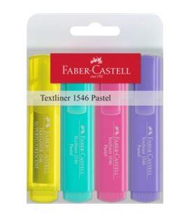 Marcador fluorescente pastel 4u textliner 46 faber 546108