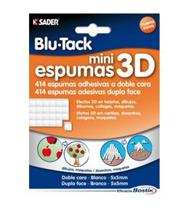 Cinta adhesiva espuma 3d mini doble cara blu-tack 1691 017646 - 41508