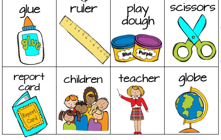 Extremamente Vocabulario en inglés de material escolar – Blog Ofirivas CS85